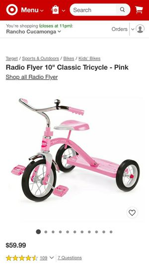 Radio Flyer Tricycle Pink for Sale in Anaheim, CA