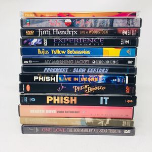 Music DVDs Hendrix Beatles Phish Morning Jacket Beastie for Sale in Portland, OR