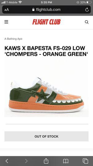 Bape X Kaws Bapesta Low Chompers Men's US 9.5 for Sale in Santa Rosa, CA