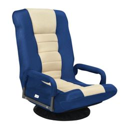 360° Blue Swivel Gaming Floor Chair with Foldable Adjustable Backrest for Sale in Diamond Bar,  CA
