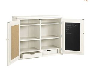 NEW in Box Martha Stewart Picket Fence Crafting Storage Hutch with Chalkboard & Bulletin Board, Drawers, Shelves for Sale in San Marcos, CA