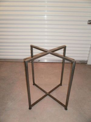 Mid ModGlass top and brass base table for Sale in West Palm Beach, FL
