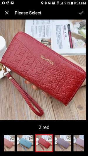 Red leather women wallet for Sale in Staten Island, NY