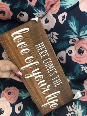 Hand painted sign for wedding - walking down the aisle for Sale in Chesapeake, VA