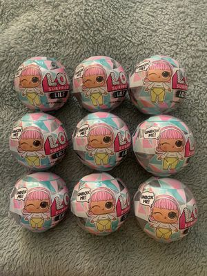 9 EACH WINTER DISCO LOL SURPRISE LILS LITTLE SISTER SERIES 1 DOLL BALL... for Sale in El Monte, CA