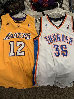 Lakers and Oklahoma thunder jerseys for Sale in Tacoma, WA