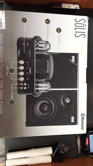 Solis stereo bluetooth vacuum tube audio system for Sale in Portland, OR