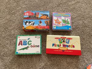 Alphabet puzzle, game, matching and first words for Sale in Chandler, AZ