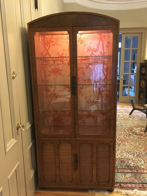 Lighted china cabinet for Sale in Boston, MA