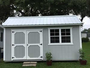 12x16 brand new shed all wood inside siding outside. Metal roof for Sale in Lakeland, FL