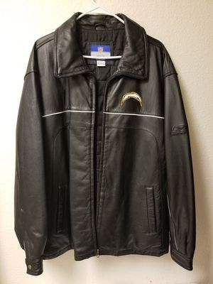 XL Reebok Chargers 100% Leather Coat for Sale in San Diego, CA