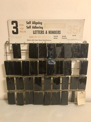 Letters & Numbers Decals with Metal Racks for Sale in Chesapeake, VA