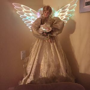 Beautiful 3 Foot Fiber optic Angel. for Sale in Port St. Lucie, FL