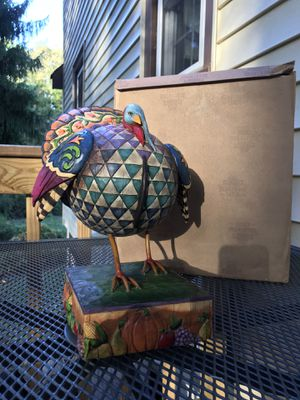 Retired 2005 Jim Shore Huge Strutting Proud Thanksgiving Turkey for Sale in Essex, CT