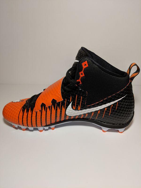e3fde9c17 Nike Lunarbeast Strike Pro Black and Orange Men s Football Cleats ...