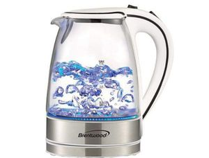 Brentwood Glass Electric Kettle Cordless 50 Oz Withe Tetera Herví Agua Te Blanca Eléctrica KT-1900W for Sale in Hialeah, FL