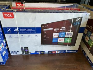 65 INCH TCL ROKU SMART 4K TVS BRAND NEW HUGE SALE TELES for Sale in Burbank, CA