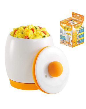Egg-Tastic Ceramic Microwave Egg Cooker and Poacher for Fast, Fluffy, Flavorful Eggs for Sale in Bakersfield, CA