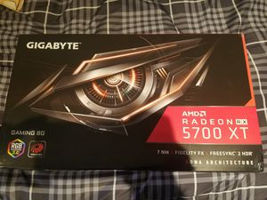 Gigabyte 5700XT Graphics Card Overclock Edition Brand New for Sale in Tustin, CA