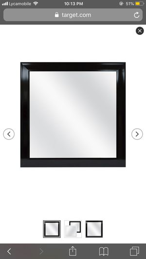 Decorative black square mirror for Sale in Weymouth, MA