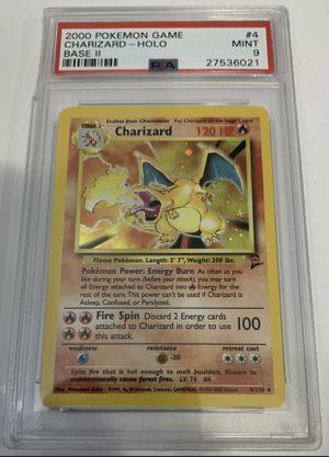 PSA 9 MINT CHARIZARD HOLO Pokemon Base Set 2 4/130 Damaged Case for Sale in Snoqualmie, WA