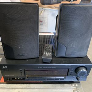 JVC RX-5060 Stereo Receiver With 2 Advent Marbl Speakers for Sale in Corona, CA