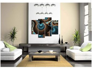Abstract Blue Brown Wall Art Painting The Picture Print On Canvas Home Decor Decoration Gift Office Living Room Above Furniture for Sale in Hawthorne, NJ