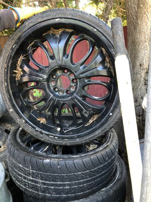 Black rims Universal 5 lug for Sale in San Jose, CA