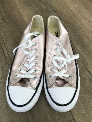 Converse Metallic Rose Gold Shoes Size 7.5 Women's for Sale in West Los Angeles, CA