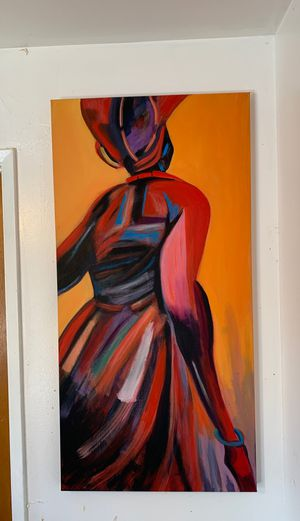 Colorful, Abstract, Silhouette painting, Original artwork for Sale in Mountain View, CA