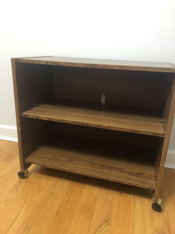 Brown 2-shelf cabinet TV stand