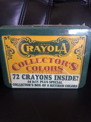 Crayola Crayons Collector's Colors Limited Edition Tin Can w/ Retired Colors New for Sale in Hayward, CA