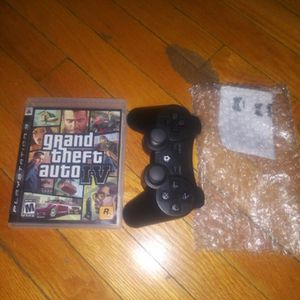 PS3 Wireless Control with a game. for Sale in Chicago, IL