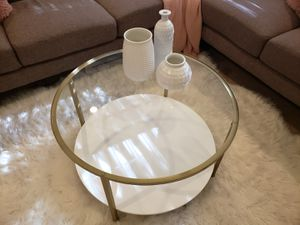 *PENDING White and gold coffee table for Sale in Kent, WA