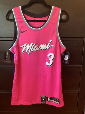 827767d75 Dwyane Wade Miami Heat Nike Sunset Vice Pink Earned Edition Jersey for Sale  in Davie