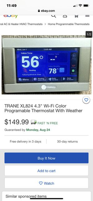 Trane thermostat digital new inbox WiFi 4.3 screen hvac Freon r-22 for Sale in Las Vegas, NV