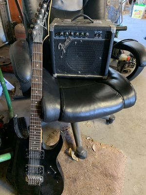 Electric guitar and fender amp for Sale in Riverside, CA