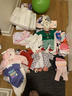 Baby clothes from newborn - 8 months plus newborn pampers for Sale in Tampa, FL