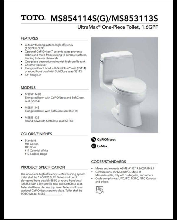 Toto Toilet For Sale for Sale in Pompano Beach, FL - OfferUp