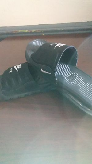 Nike Air Max slides black men size 8 for Sale in Washington, PA