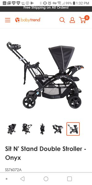 Baby Trend Sit N' Stand DoubleStroller, Black for Sale in Rosemead, CA