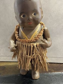 Antique 'BABY BUD' by EFFANBEE HULA DANCER composition doll W/ Skirt & Lae for Sale in Beaverton,  OR