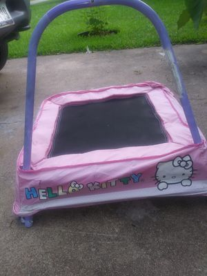 Toddler hello kitty trampoline $25 for Sale in Mesquite, TX