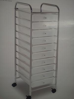 Brand New in both 10 plastic clear storage organizer bin drawers for Sale in Costa Mesa, CA