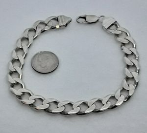 Real Solid .925 Italy Sterling Silver Miami Cuban Link Bracelet 9.5 Inches 11MM for Sale in Hollywood, FL