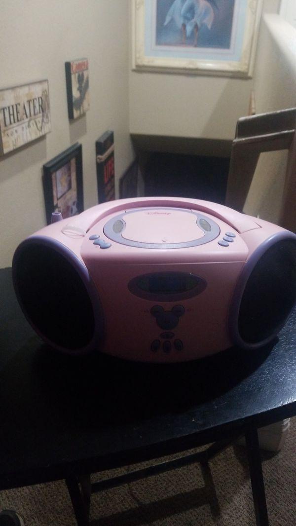 Walt Disney CD player and radio works