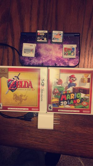 Nintendo 3DS XL - Galaxy with 6 games for Sale in Mount Olive, IL