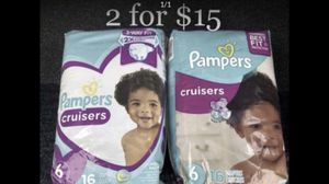 Pampers Diapers (size 6 or 5 available) 2 for $15 for Sale in Montebello, CA
