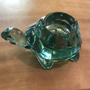 VINTAGE INDIANA GREEN GLASS TURTLE VOTIVE CANDLE HOLDER PAPERWEIGHT for Sale in Franklin, TN