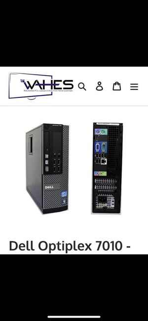 Dell Desktop Tower (CPU) Optiplex 7010 - With Wifi!!! - Windows 10 for Sale in Tulsa, OK